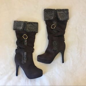 Shoes - Faux Fur Soft Brown Boots
